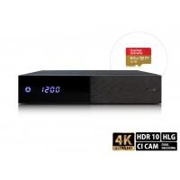 AB PULSe 4K (1x tuner DVB-S2X + 64GB microSD card)