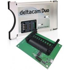 Deltacam Twin közös interfész modul PCMCIA CAM - Iso & Sim kártyaolvasó + Unicam Prime Duo programozó