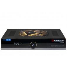 Octagon SF8008 4K UHD 2160P H.265 HEVC E2 Linux Dual WiFi DVB-S2X & T2C Combo