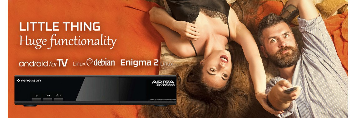 FERGUSON ARIVA ATV COMBO ANDROID TV 8.0 4K UHD DVB-S2/T2 WIFI