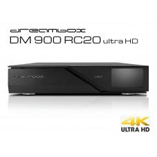Dreambox DM 900 RC 20 ultra HD, 1x Dual S2X MS Tuner