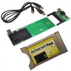 Deltacam Twin 2.0 Deltacrypt CI Modul . USB Programozó