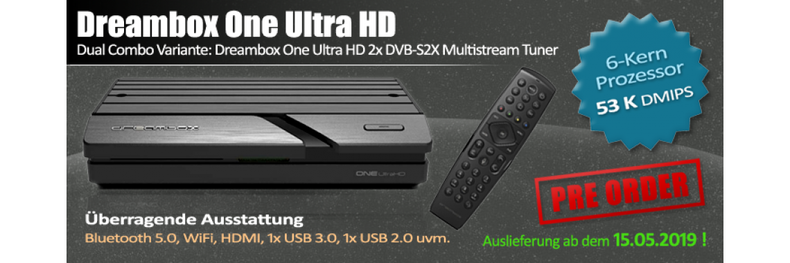 Dreambox One 4K 1x DVB-S2X Multistream Tuner